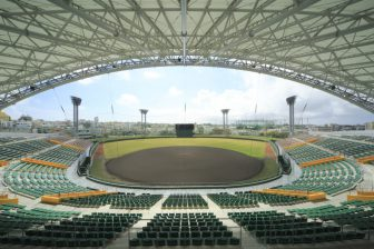 Koza Shinkin Stadium in Okinawa City KOZA Sports Park