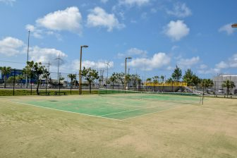 Tennis Court in Toyosaki Rainbow Park