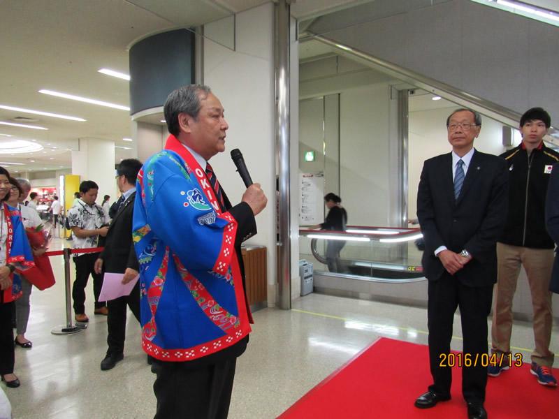 沖縄県バレーボール協会 翁長良成 会長より歓迎のご挨拶