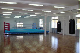 Boxing,Table tennis, Traning room in National Okinawa Youth Friendship Center,